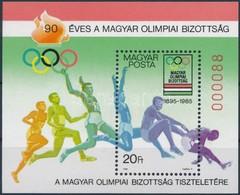 ** 1985 90 éves A Magyar Olimpiai Bizottság Ajándék Blokk (26.000) / Mi Block 175 Present Of The Post - Stamps