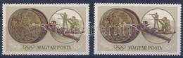 ** 1965 Olimpiai érmesek 50f Balra Tolódott Bronz Színű Színnyomattal + Támpéldány - Stamps