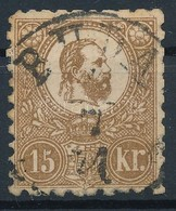 O 1871 Kőnyomat 15kr ,,BUDA' (rövid Fogak) - Stamps