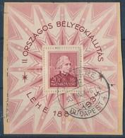 1934 LEHE Blokk Elsőnapi Bélyegzéssel  (20.000) - Stamps