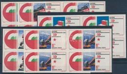 ** 1975 Felszabadulás (VI.) Vágott Sor 4-es Tömbökben 'A MAGYAR POSTA AJÁNDÉKA' Hátoldali Felirattal (20.000) - Stamps