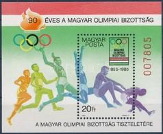 ** 1985 90 éves A Magyar Olimpiai Bizottság AJÁNDÉK Blokk (26.000) - Stamps