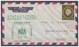 Antillen / Antilles 1954 FDC V6-2M Statute With Netherlands And Suriname - Niederländische Antillen, Curaçao, Aruba