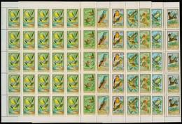 ** 1973 Madarak 35 Sor ívdarabokban (11.500) - Stamps