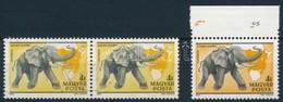 O 1981 Kittenberger 4Ft Pár Erős Színeltérés (?) + Támpéldány - Stamps