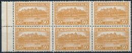 ** 1928 Pengő-fillér 50f ívszéli Hatostömb (13.200) - Stamps