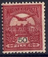 ** 1904 Turul 50f Sötétborvörös,  Kettős Kép, Az Egyik Fordított - Stamps