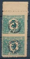 ** Debrecen 1919 5kr Középen Fogazatlan ívszéli Pár, Bodor Vizsgálójellel - Stamps