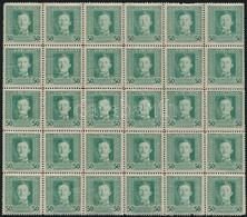 ** 1917 Kuk Feldpost III. Forgalmi Sorozat 50h 30-as Tömb (19.500) (apró Hibák) - Stamps