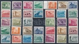 ** 1951-1953 Épületek Kis- és Nagyméretű  Sorok (19.000) - Stamps