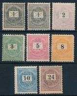 * 1889 8 érték (7 Különféle) Az ,,E' Sorból (11.300) - Stamps