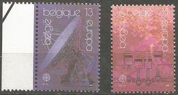 Belgium - 1988 Europa Transport Set Of 2  MNH **    Sc1287-8 - Belgium
