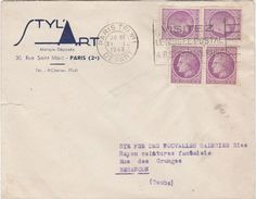 Enveloppe Commerciale / 1948 / STYL' ART / 30 Rue Saint-Marc Paris / Flamme Musée Postal - Maps