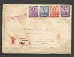 LIQUIDATION TOTALE : 1936 - ZU 2/4 - Mi 294/296 - Yv 286/288 - SERIE COMPLETE Sur LETTRE RECOMMANDEE - Lettres & Documents