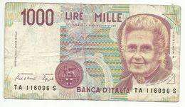 ITALIA , ITALIE , 1000 LIRES , 1990 , N° World Paper Money : 114 A - [ 2] 1946-… : République