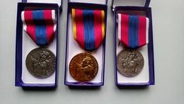 Lot 3 Médaille Ordonnance De La  Défense Nationale Armée Nation Or Argent Militaire - France