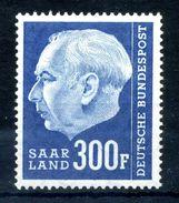 1957 SARRE N.410 MNH ** - 1957-59 Federazione