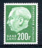 1957 SARRE N.409 MNH ** - 1957-59 Federazione