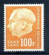 1957 SARRE N.408 MNH ** - 1957-59 Federazione