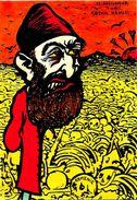 CPM Arménie Turquie Satirique Caricature Turkey Kaiser Arménia Abdul Hamid Génocide Arménien - Armenië