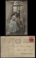 S0648 DR Belgien WW I Liebespaar Karte ,gebraucht Antwerpen 1917 , Bedarfserhaltung. - Occupation 1914-18