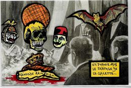 CPM Arménie Turquie Satirique Caricature Turkey Kaiser Arménia Enver Pacha Génocide Arménien épiphanie - Armenia