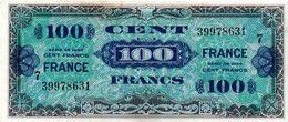"""100 F """"Verso FRANCE"""" - Type 1945 (série De 1944) - (SUP) - Treasury"""