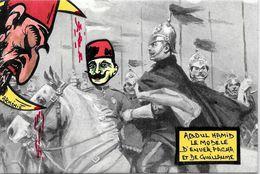 CPM Arménie Turquie Satirique Caricature Turkey Kaiser Arménia Enver Pacha Génocide Arménien Abdul Hamid - Arménie