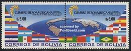 Bolivia 2003 Top Meeting 2v [:], (Mint NH), History - Flags - Various - Maps - Geography