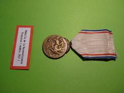 Médaille De La Reconnaissance Française - 1er Modèle, Ech. Bronze - France