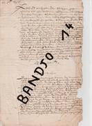 """76 - Seine Maritime - Le Fontenay - Criquetot L'Esneval -  1655 - Partage Des Biens De """"feu"""" Abraham Vastel - 4 Scan - Manuscrits"""