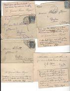 GENERAL FAURE - BIGUET  5  Autographes ( + 2 De Son épouse ) Au Gendarme Alibert à Daglan ( 1893-95 ) - Autographes
