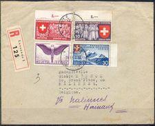 LIQUIDATION TOTALE : 1939 - LETTRE RECOM. De LAUSANNE à NALINNES(BELGIQUE) Le 24/04/1939-déroutée Sur MALINES - Lettres & Documents