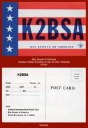 "P5324  (c.1960's) ""K2BSA BOY SCOUTS OF AMERICA""  (National Headquarters Radio Club QSL Postcard) - United States"