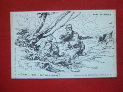 "MILITARIA - GUERRE 1914/18 - "" TIENS...BOIS....EH! SALE BOCHE! "" - DANS LA RAFALE - COLL PHOSCAO - "" ILL : A. DUBRAY "" - - Guerre 1914-18"