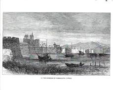 Chypre - Illustration, Dessin à La Plume Signé Greenaway: The Harbour Of Famagusta, Cyprus - Carte Non Circulée - Chypre