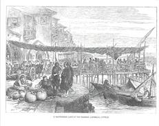 Chypre - Illustration, Dessin à La Plume: Waterside Café At The Marina, Larnaca, Cyprus - Carte Non Circulée - Chypre