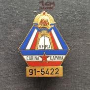 Badge (Pin) ZN006332 - Military (Army) Insignia Border Patrol Carina Yugoslavia #91-5422 - Army