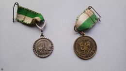 Lot 2 Médailles Horst III 1983 Altenkirchener Schützengesellschaft 1973 - Army & War