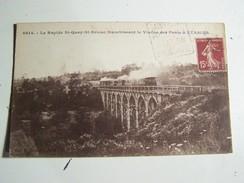 55 SAINT  QUAY Le RAPIDE Franchissant Le Viaduc Des Ponts à Etables TRAIN - Saint-Quay-Portrieux