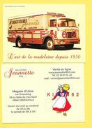 CPM Publicitaire- Biscuiterie Jeannette, La Reine Des Madeleines-Caen- Camion Berliet Trk 10. - Publicité