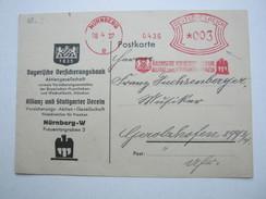 1937 , Nürnberg     , Freistempel  Auf  Karte - Deutschland