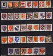 Frankreich/France, 1943-1955, Gestempelt / *Provinzwappen (fehlt Mi 585) [100118LAIII] - 1941-66 Escudos Y Blasones