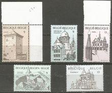 Belgium - 1988 Tourism Set Of 5  MNH **    Sc 1289-93 - Belgium
