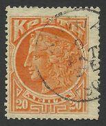 Crete, 20 L. 1901, Scott # 65, Mi # 11, Used. - Creta