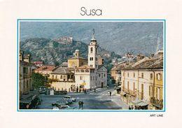 1 AK Italien * Ansicht Der Stadt Susa - Piazza IV. Novembre * - Italia