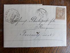 10.01.18_ Rare Perforation Sur Sage  Banque Filix Aunac - Perforés