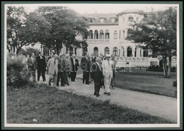 Cca 1949 Rákosi és Georgi Dimitrov, Fotó, Kartonra Ragasztva, 12,5×17,5 Cm - Unclassified
