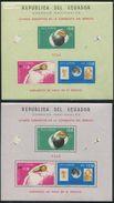 Ecuador 1966 Italians In Space 2 S/s, (Mint NH), Transport - Space Exploration - Ecuador