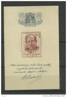 1954 MH  Ceskoslovensko, Block 15 - Blocks & Sheetlets
